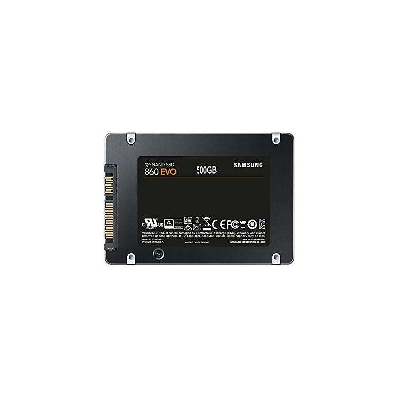 """Samsung MZ-76E500B Unità SSD Interna 860 EVO, 500 GB, 2.5"""" SATA III, Nero/Grigio"""